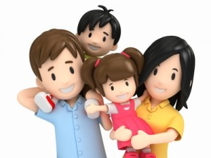 3d render of a happy family © Gouraud Studio – Fotolia.com